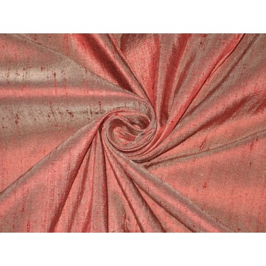 """100% Pure SILK Dupioni FABRIC Maroon with Ivory Shot 54"""" wide sold by the yard"""