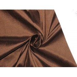 "100% Pure SILK Dupioni FABRIC Dark Brown 54""dup83[2]"