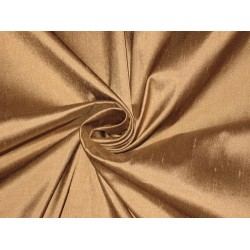 100% Pure SILK Dupioni FABRIC Taupe Brown