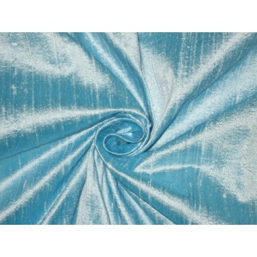 """100% Pure SILK Dupioni FABRIC Heavenly Blue 44"""" wide sold by the yard"""