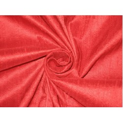 100% Pure SILK Dupioni FABRIC Scarlet Red 44""