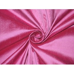 100% Pure SILK Dupioni FABRIC Pink x Purple = Fuscia  wide sold by the yard