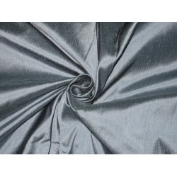 "100% Pure SILK Dupioni FABRIC Rain Cloud Blue 44"" wide sold by the yard"