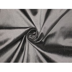 "100% Pure SILK Dupioni FABRIC Metallic Silver 44""wide sold by the yard"
