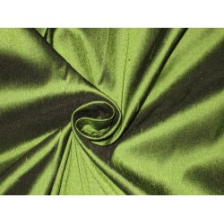 100% Pure SILK Dupioni FABRIC Hunter Green Dupioni 54""