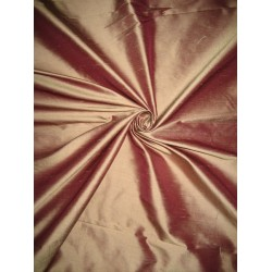 100% Pure SILK Dupioni FABRIC Purpleish Pink x Ivory shot Dupioni 54""