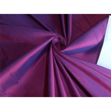 """100% PURE SILK DUPIONI FABRIC PINK X BLUE COLOR 110"""" WITHOUT SLUBS*"""