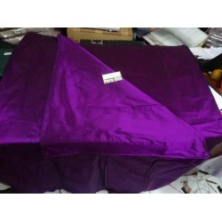 100% Pure SILK Dupioni FABRIC purple x black 54""