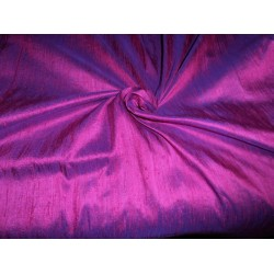 "100% Pure SILK Dupioni FABRIC pink x blue 54"" with slubs**"