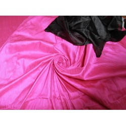 "100% Pure SILK Dupioni FABRIC fluorescent pink  54"" with slubs**"