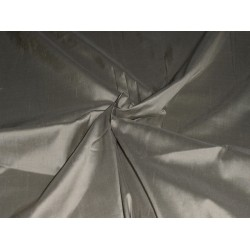 "Pure SILK Dupioni FABRIC Gunmetal grey 108"" wide"