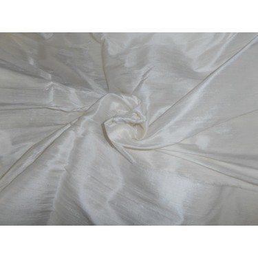 """100% Pure SILK Dupioni FABRIC white  54"""" with slubs* sold by the yard"""