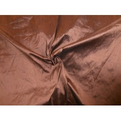 Pure SILK Dupioni FABRIC copper / black  108 inch wide