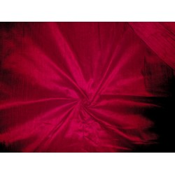"""bright indian red Indian silk dupioni 44""""~with slubs"""