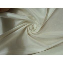 "21 mm Pure Silk china dupion fabric 44""[ivory colour]"