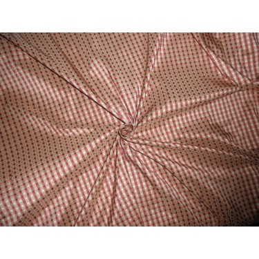 """SILK Dupioni FABRIC with dobby design/ wine/ pale gold TAFCJ6 54"""" wide sold by the yard"""