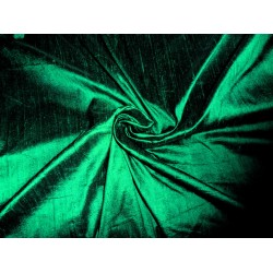 "100% Pure SILK Dupioni FABRIC nice Emerald green 54"" with slubs* MM2[8] sold by the yard"