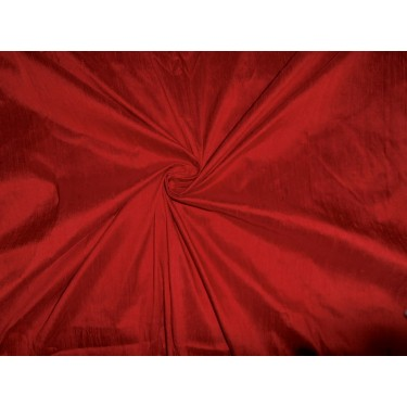 """deep red colour dupioni 54"""" with slubs -silk fabric  sold by the yard"""
