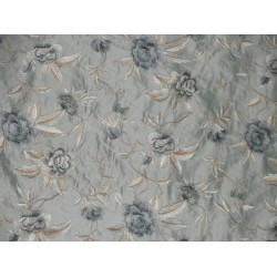 """SILK Dupioni embroidery 54""""W-icy blueish green DUPE44 BY THE YARD"""