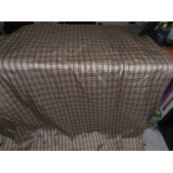 """Rich beige/black/white Colour Plaids~ Dupioni fabric 60""""wide sold by the yard"""