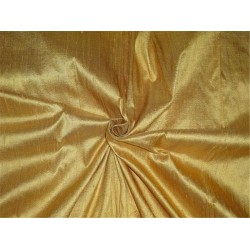 "100% PURE SILK DUPIONI FABRIC DEEP MUSTARD YELLOW 54""WITH SLUBS*"