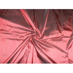 "100% PURE SILK DUPIONI FABRIC WINE COLOR 54"" WITHOUT SLUBS*"