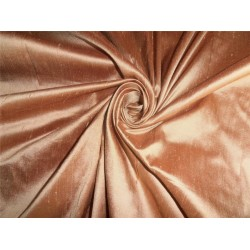 """100%PURE SILK DUPIONI FABRIC GOLD X BROWN COLOR 180""""WITHOUT SLUBS"""