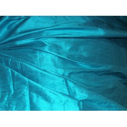 "100% Pure SILK Dupioni FABRIC  neon blue 54"" with slubs*"