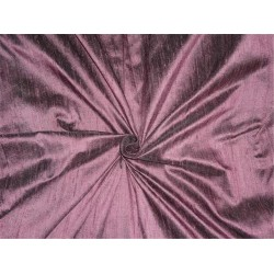 "100% PURE SILK DUPIONI FABRIC AUBERGINE X BLACK 54"" WITH SLUBS*"