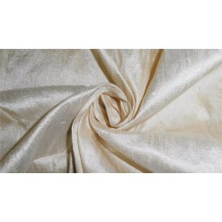 "100% PURE SILK DUPIONI FABRIC CREAM X IVORY 54"" WITH SLUBS  MM80[5]"