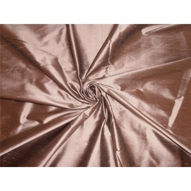 """100% PURE SILK DUPIONI FABRIC OLD GOLD X BLACK COLOR 54"""" WITHOUT SLUBS*"""