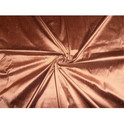 "100% PURE SILK DUPIONI FABRIC PEACH X BLACK 54"" WITHOUT SLUBS*"