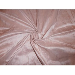 "100% PURE SILK DUPIONI FABRIC PINK EGG SHELL 54"" WITH SLUBS*"