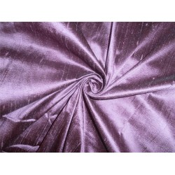 "100% PURE SILK DUPIONI FABRIC PURPLE X BLACK 54"" WITH SLUBS"