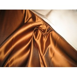 66 MOMME SILK DUTCHESS SATIN FABRIC Bronzeish Tan color