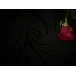 """Viscose crepe georgette black fabric 44"""" wide sold by the yard"""