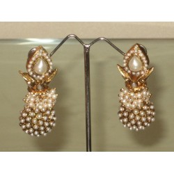 Imitation fashion earrings ~ Pearl Work