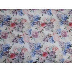 """floral print Scuba Knit fabric 59"""" wide-thin for fashion wear"""