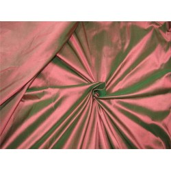 """100% Silk Dupion fabric salmon x green color 60""""wide DUP#256[1]"""