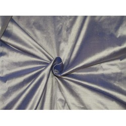 """100% Silk Dupion fabric Silver x blue color 54""""wide DUP#253"""