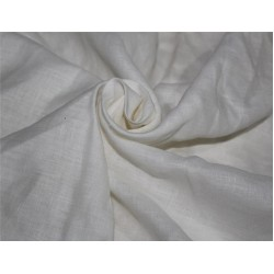 Pure linen fabric ivory color 112''wide