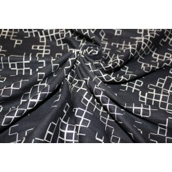 "100% linen fabric 58"" beautiful black print LCP4"