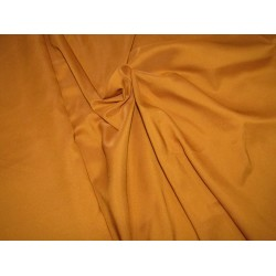 "100% polyester fabric  mustard  width 58""2 way stretch 56 momme"