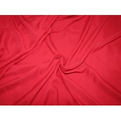 "100% polyester fabric  red width 58""2 way stretch 56 momme"