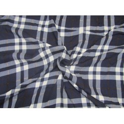 "100% heavy rayon fabric navy plaids 58"" wide"