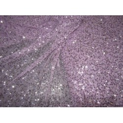lilac Net Fabric with  silver   color SEQUENCE  lycra 58'' Wide FF36[6]
