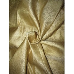 "Silk Brocade Fabric gold x metallic gold 44"" BRO704[4] by the yard"