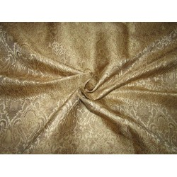 "Silk Brocade Fabric classy gold x metallic gold   44"" BRO707B[1] by the yard"