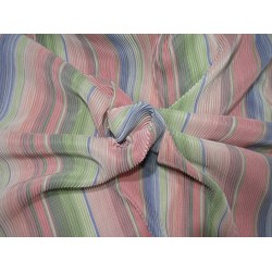 "Rainbow pleated polyester lycra 58"" wide by the yard FF9"