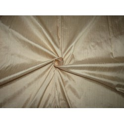 "100% pure silk dupioni fabric DARK CREAM  54"" with slubs MM92[2]"